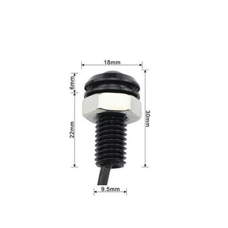 1pcs 18MM 9W Led Eagle Eye DRL дневни светлини - Автомобилни светлини - Снимка 5