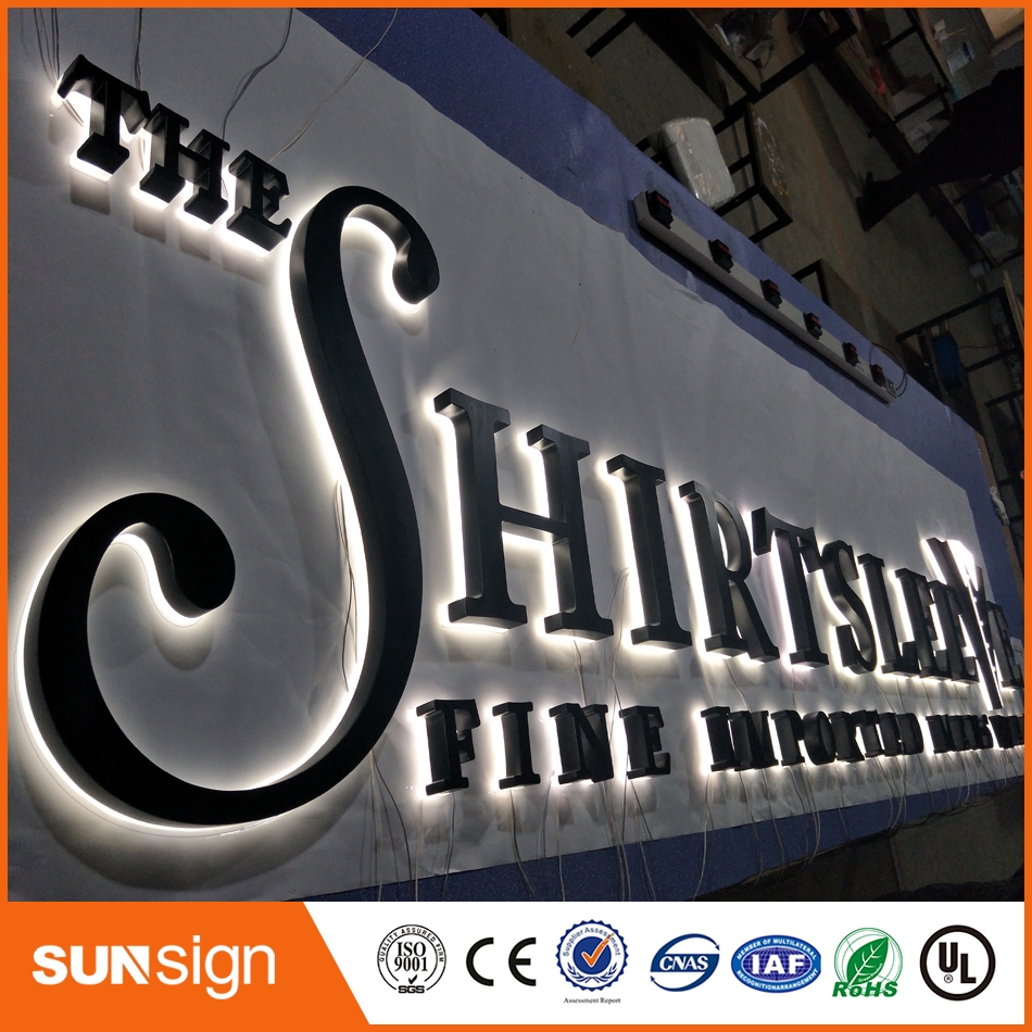 Brushed Stainless Steel Led Backlit Letters Led House Numbers