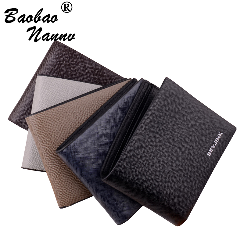 Transverse Short Wallet Men Leather Wallets Male Purse Multi Card Holder Coin Pocket Vertical Money Billfold Maschio Clutch men pu leather credit card holder billfold wallet purse checkbook clutch
