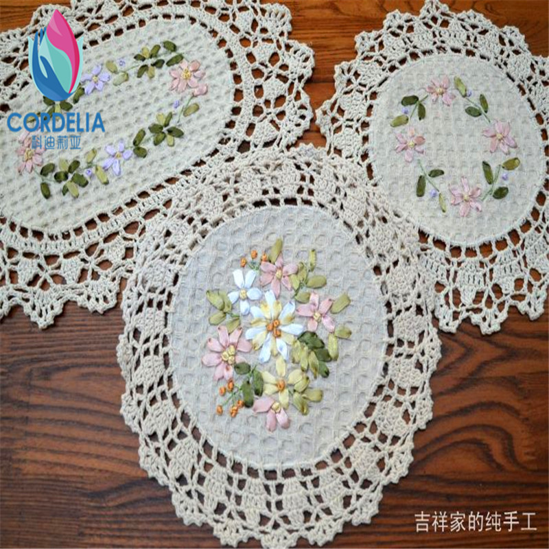 Beige round and oval cotton crochet lace doilies flowers  : Beige round and oval cotton crochet lace doilies flowers embroidery tablemat ribbon embroidered disc pad coaster from www.aliexpress.com size 800 x 800 jpeg 253kB