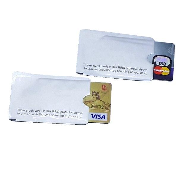 RFID Bloqueio De Cartão de Manga Blindado 13.56 mhz IC de Protecção do cartão NFC cartão de segurança evitar não autorizado de digitalização
