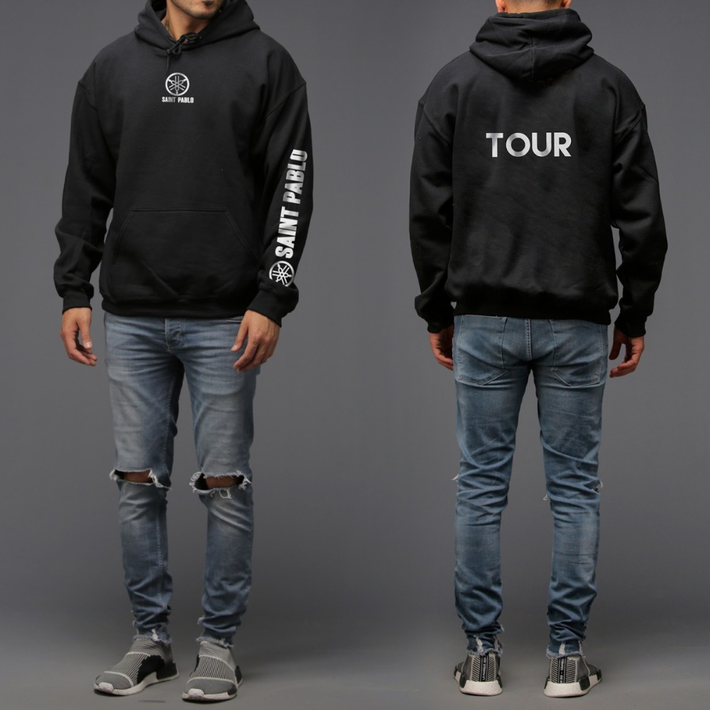 8822c1b80e1 New Jersey Hoodie and Saint Pablo printing O fashionable men and women  Fleece Hoodie neck in