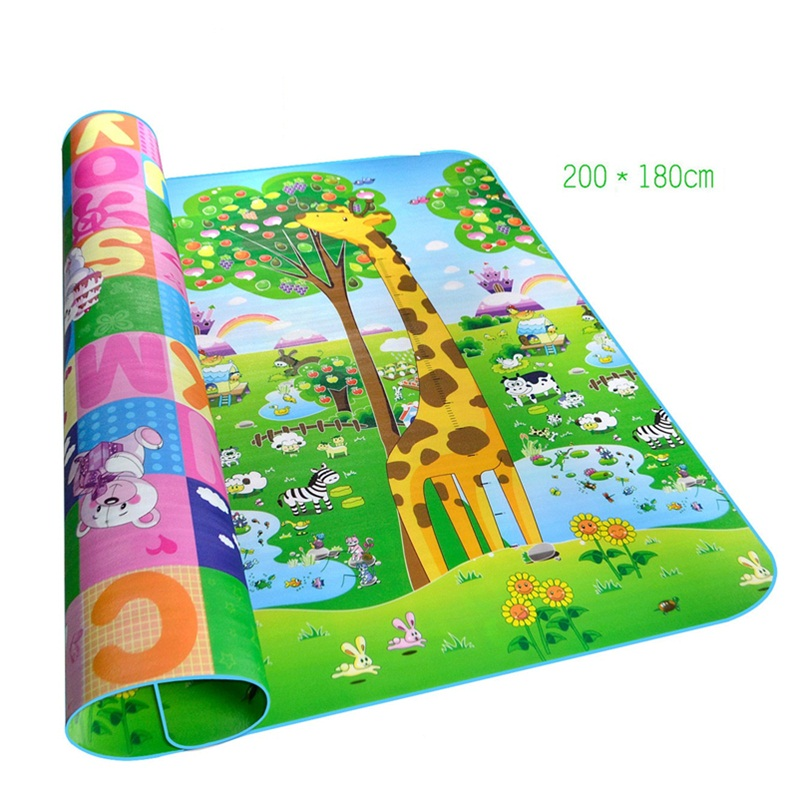 200x180x0.5cm Double-faced Play Mat Healthy Material Carpets Baby Toys Developing Mat Rug Puzzle kids Rug Random pattern