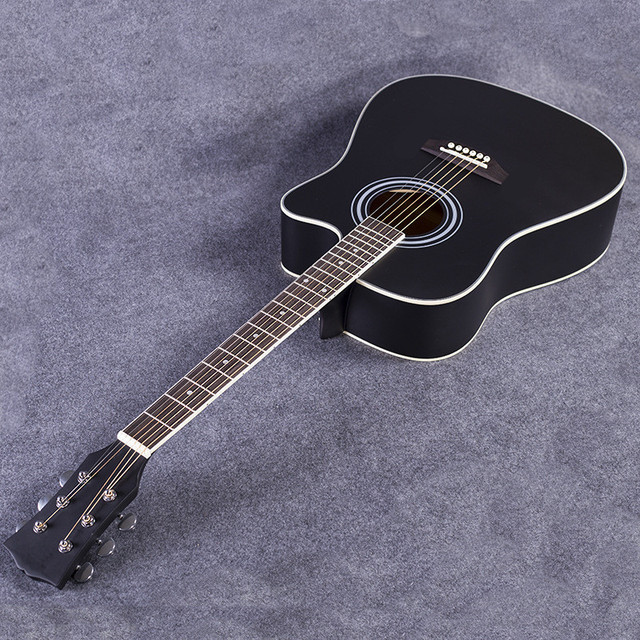 41 42 NEW Inch Matte Paint Black Color Acoustic Guitar Rosewood Fingerboard Guitarra With
