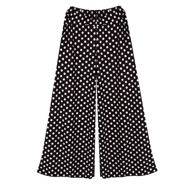 Online Shop Summer Dot Wide Leg Pants Palazzo Pants Gorgeous ...