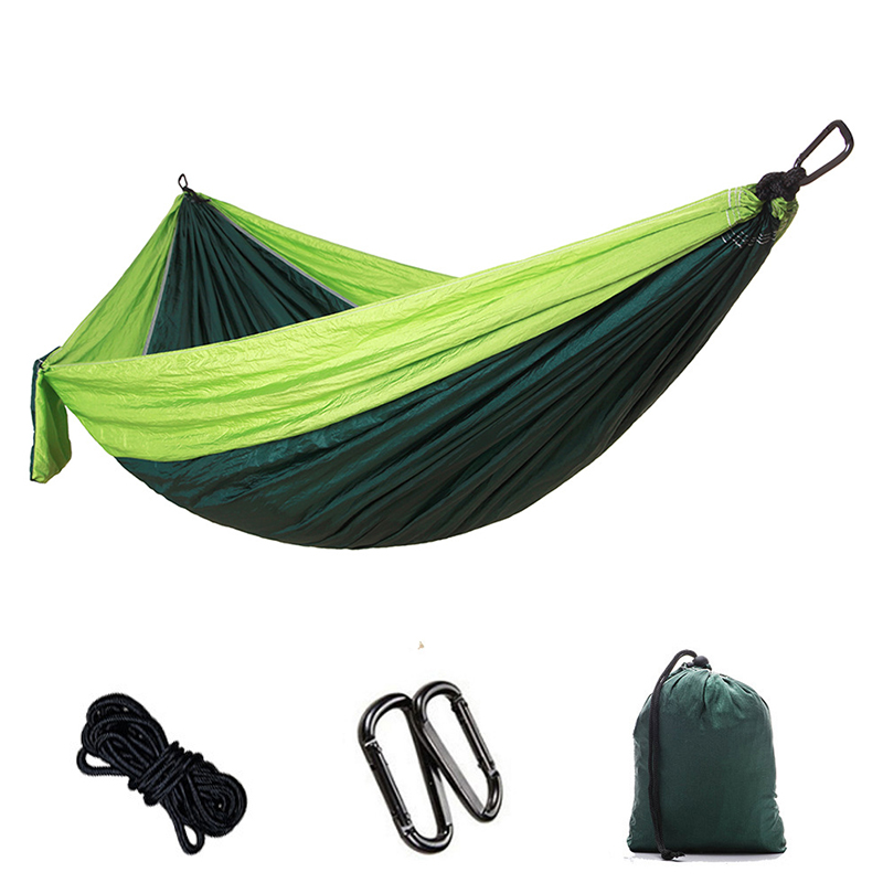 Outdoor Portable Backpack Rope Swing Hammock Light Weight Nylon Fabric for Garden Leisure Travel Camping Furniture 2017 portable nylon garden outdoor camping travel furniture mesh hammock swing sleeping bed nylon hang mesh net