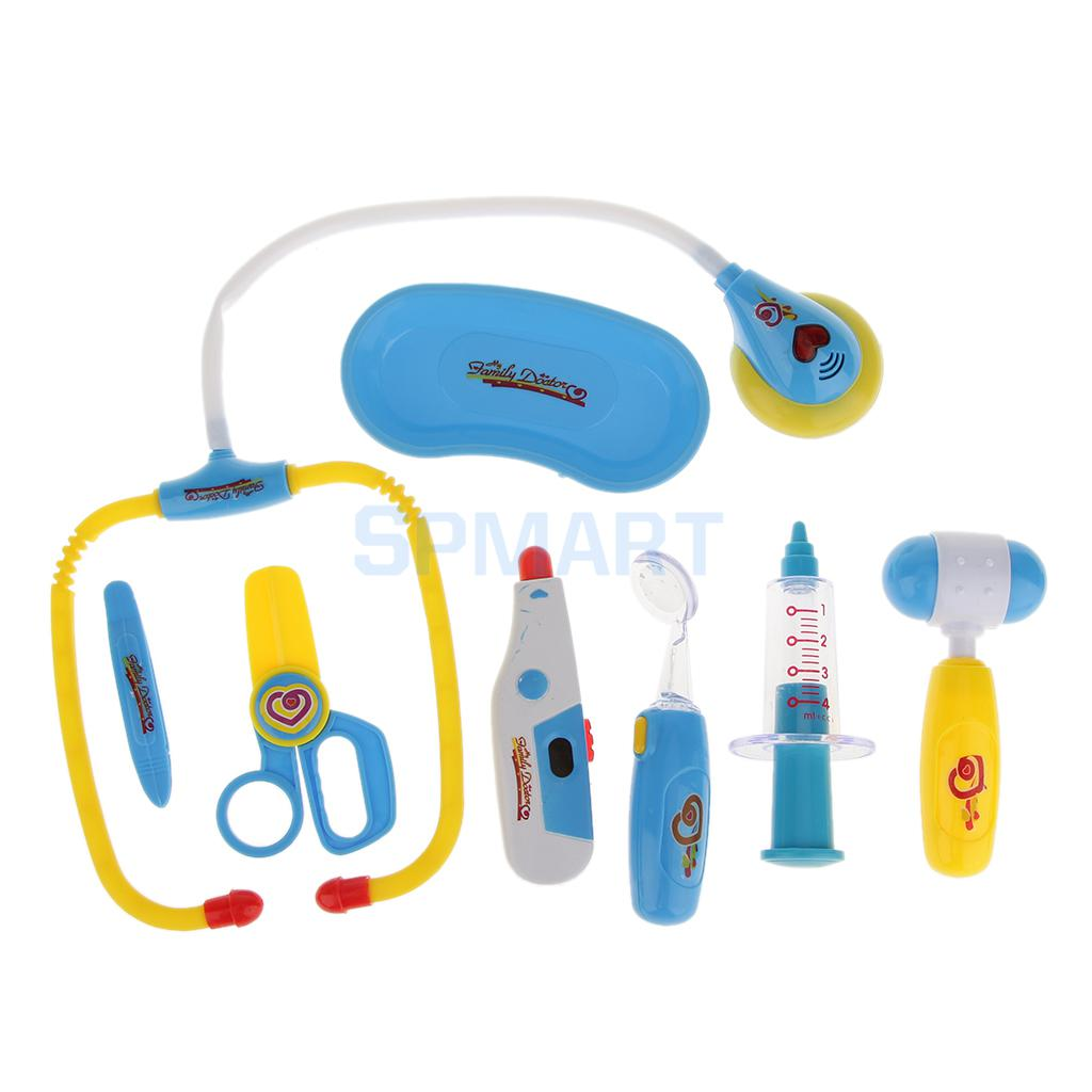 8Pcs Baby Kids Doctor Nurse Medical Play Set Education Role Play Tools Toy