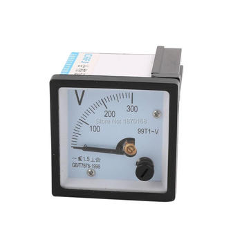 99T1 AC 150V 250V 300V 450V 500V 10KV/100V 12KV(10KV/100V) Fine Tuning Dial Panel Analog Voltage Meter Voltmeter White Black48MM цена 2017