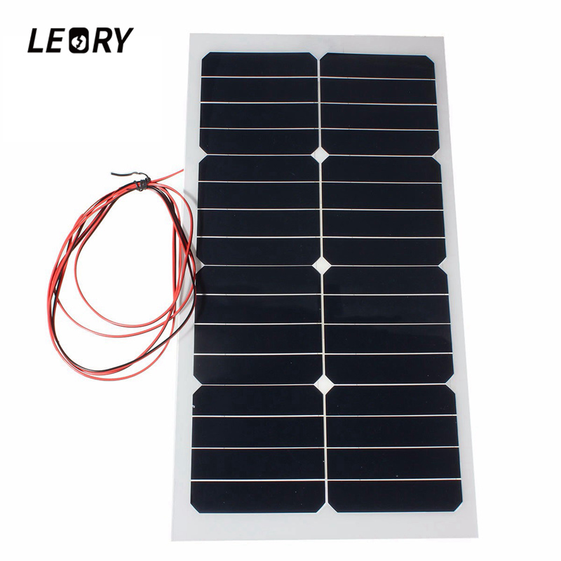 leory 110w 12v flexible solar panel diy battery system sunpower solar cells charger for rv boat car with 1 5m cable 1180mmx540mm LEORY 20W 12V Solar Panels Semi Flexible Sunpower Solar Cells With 300cm Cable For Car Batteries RV Boat