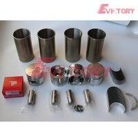 Kit de reconstrucción de motor TD27  pistón TD27 + revestimiento de cilindro para anillo  kit de cojinete de junta completa para carretilla elevadora Nissan|Partes y carrocería de cilindro|   -