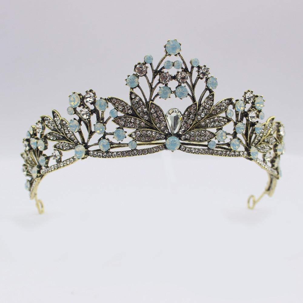 Luxurious Vintage Crystal Wedding Bridal Tiara Crown Bride Hair Jewelry Accessories Women Party Diadem Decorations Hair Jewelry