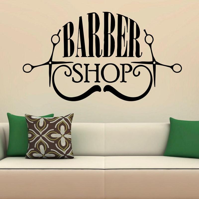 Barber Shop Wall Stickers Hairdressing Salon Rooms Decoration Waterproof Wall Art Vinyl Murals Home Decor