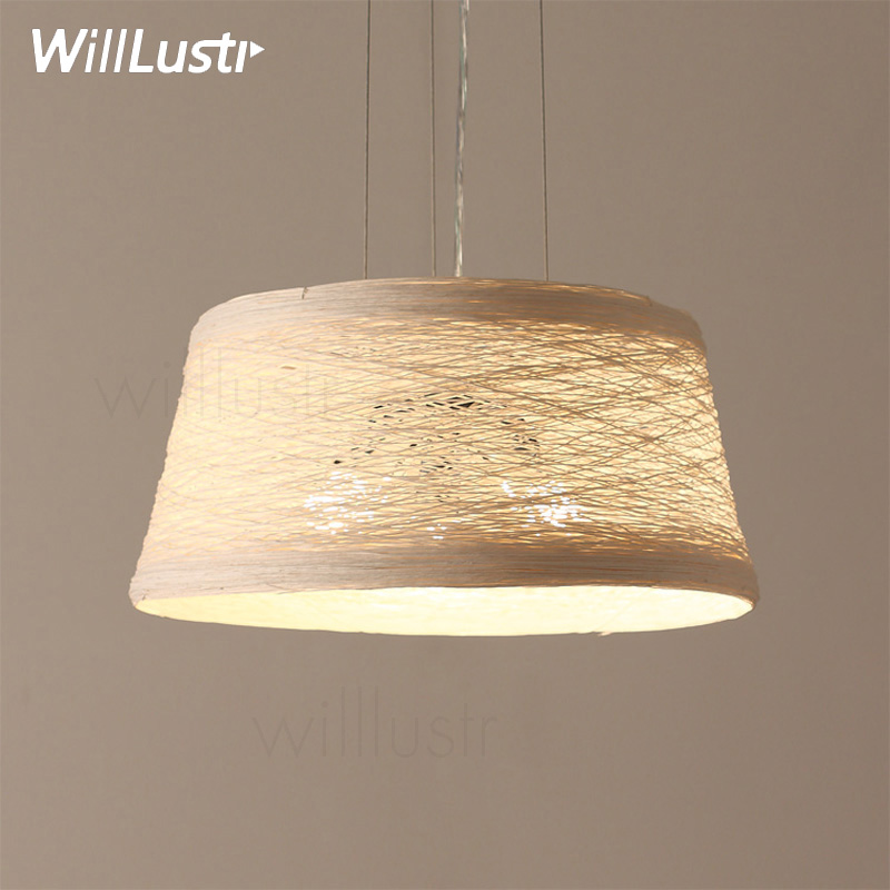 Wicker Pendant Light Handmade Home