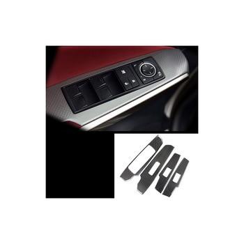 lsrtw2017 carbon fiber car window control panel trims for lexus is200t is300 is250 2013 2014 2015 2016 2017 2018