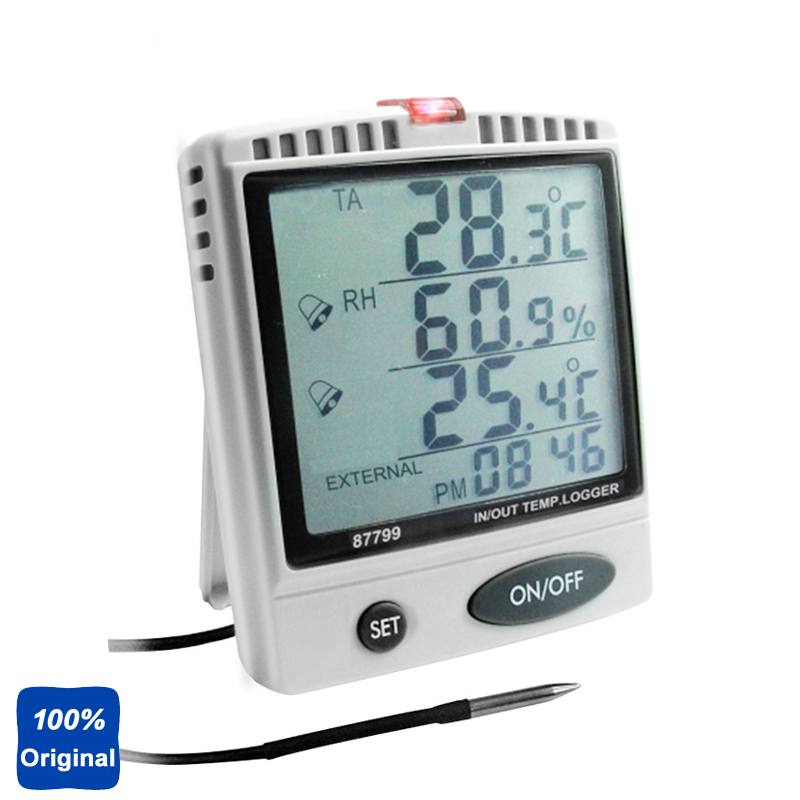 Desktop Humidity Temperature Meter WBGT Test with SD Card Datalogger AZ 87799