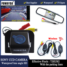 FUWAYDA SONY CCD HD Parking  170 Car Rear View Camera With 4.3 inch Car Rearview Mirror Monitor for TOYOTA Prius 2012