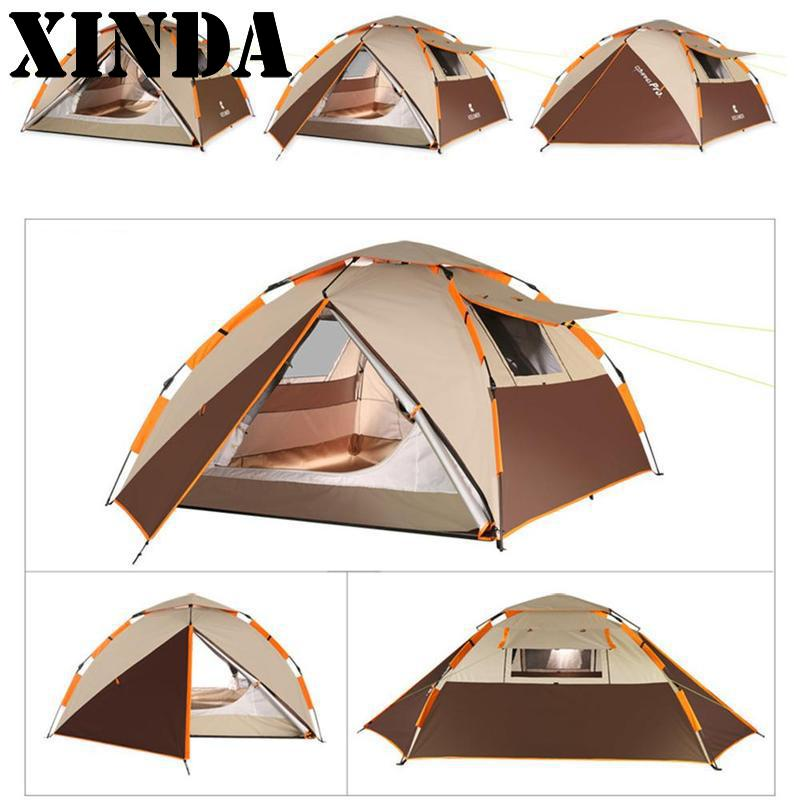 Large Throw Tent Outdoor 3-4persons Automatic Speed Open Throwing Pop Up Waterproof Beach Camping Tent 2 Second Open New ZRT4931 new arrival 3 4persons one bedroom
