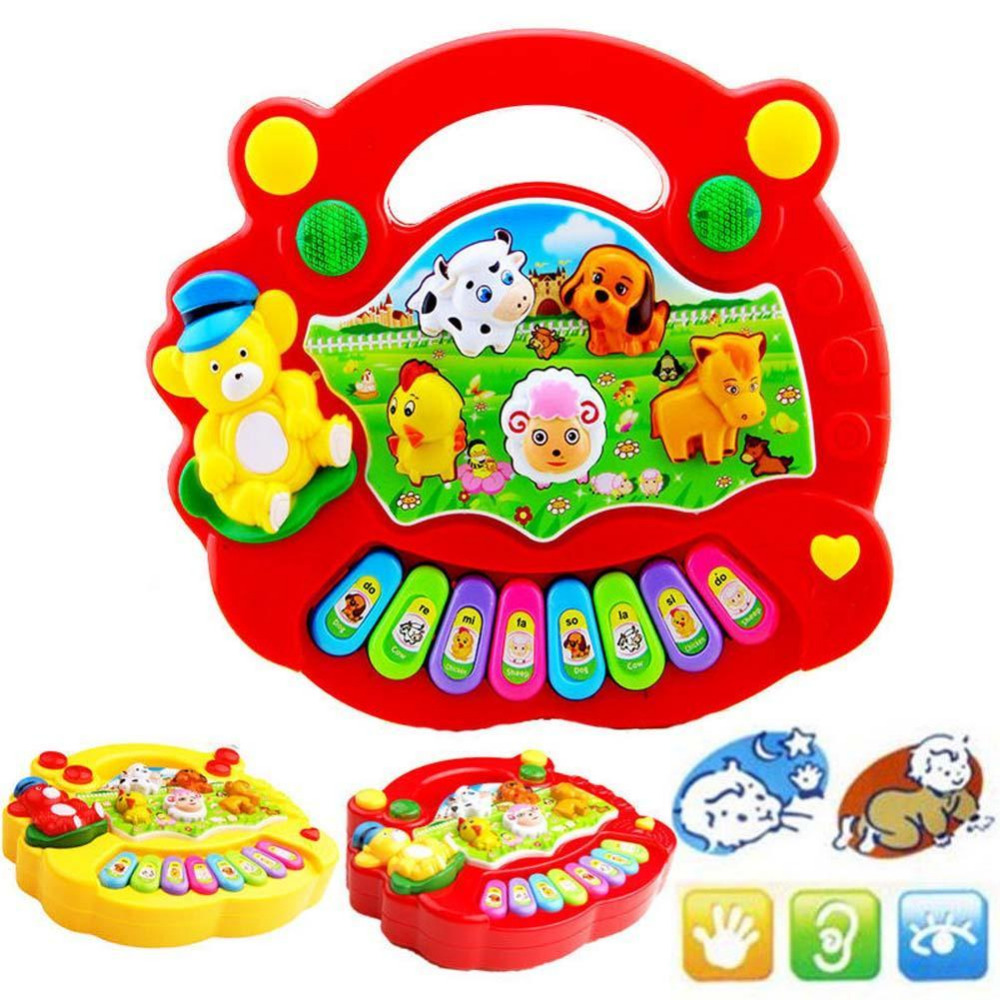 <font><b>Toy</b></font> Musical Instrument Baby Kids Musical Educational Piano Animal Farm Developmental Music <font><b>Toys</b></font> for Children Gift