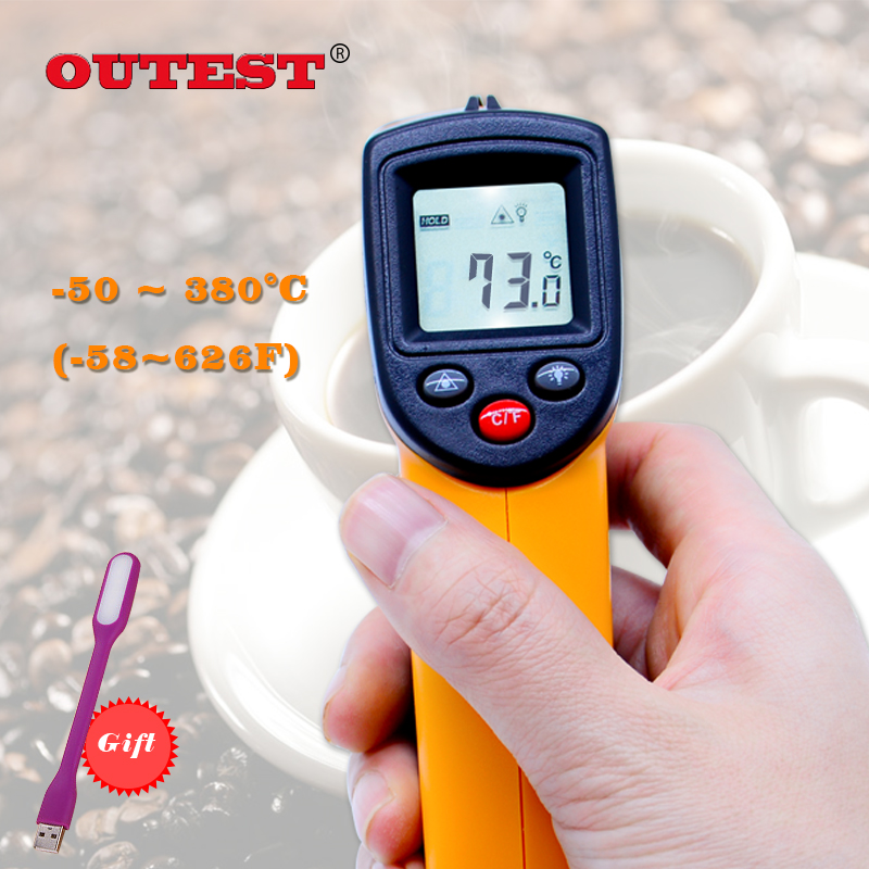 OUTEST GM320 Infrared Thermometer non contact infrared thermometer temperature Pyrometer IR Laser Point Gun -50~380 degree