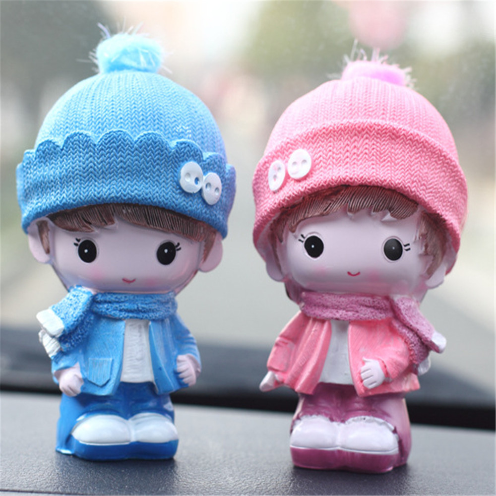 Car Decoration Toys  Resin crafts Dolls Fashion Styling Baby Lovers in the mood for love Interiors
