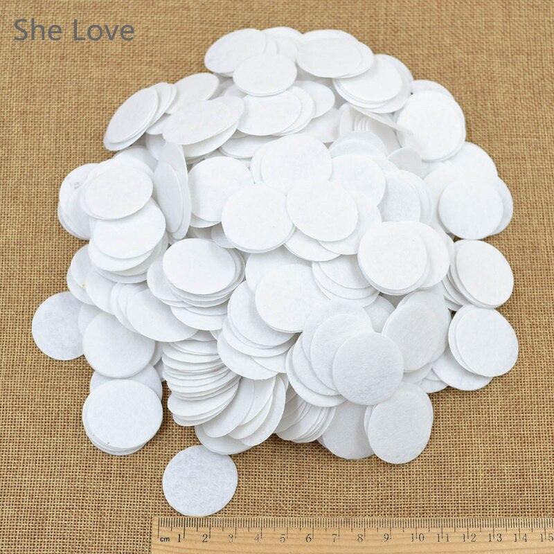 Шт. 500 шт. белый мм 30 мм фетр круг высечки аппликации DIY Cardmaking Craft круглый новый