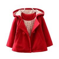 LILIGIRL Baby Girl Jackets Coats Hairy Hooded Windbreaker For Toddler Girls Autumn Kids Jacket Outerwear