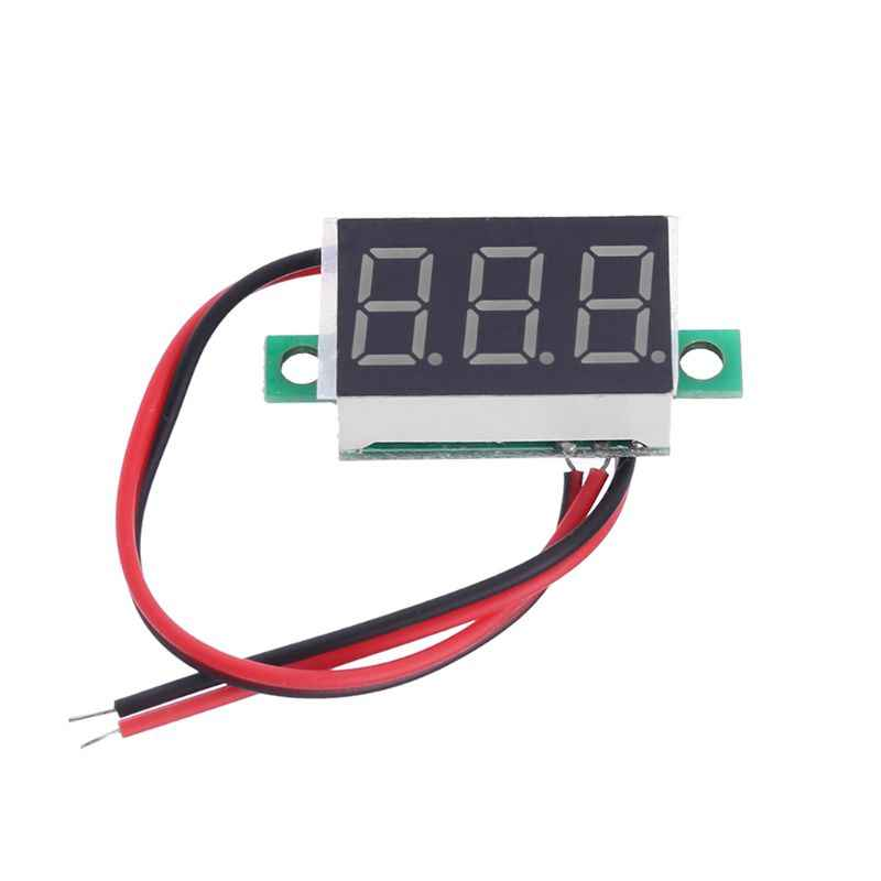 Dc 4 5v 30v 0 36 Inch 2 Wires Digital Voltage Meter Mini Voltmeter Ammeter Vehicle Motor Voltage Panel Meter Red Led Display Aliexpress