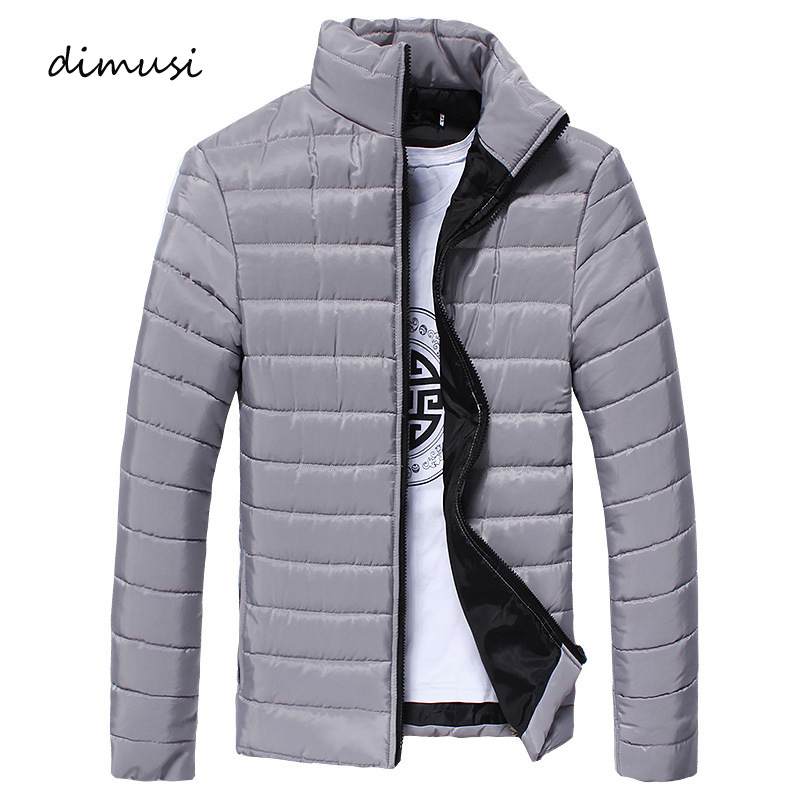 DIMUSI Men Winter Jacket Fashion Hooded Thermal Down Cotton Parkas Male Casual Hoodies Windbreaker Warm Coats,YA710
