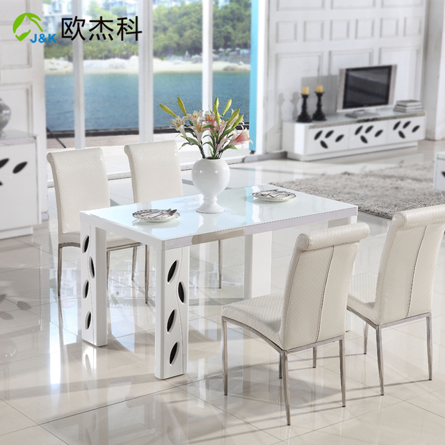 Superb Oujie Ke Stylish Minimalist Modern Furniture IKEA Dining Table Small  Apartment High Gloss Piano Lacquer