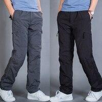 Winter Double Layer Men S Cargo Pants Men Cotton Warm Thick Baggy Trousers For Men Male