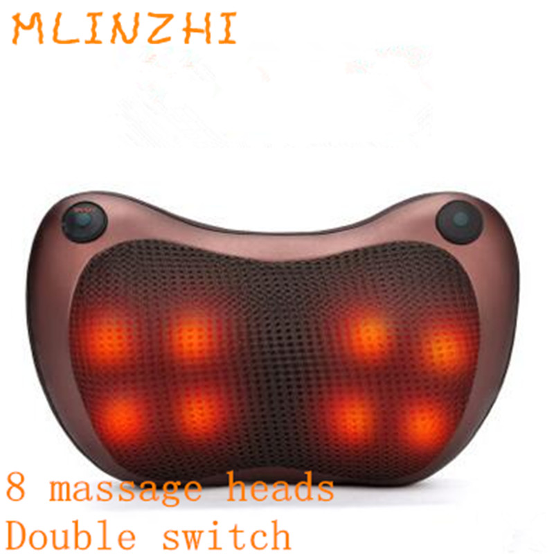 Electric Infrared Heating Kneading Neck Shoulder Back Body Spa Massage Pillow Car Chair Shiatsu Massage  DeviceElectric Infrared Heating Kneading Neck Shoulder Back Body Spa Massage Pillow Car Chair Shiatsu Massage  Device
