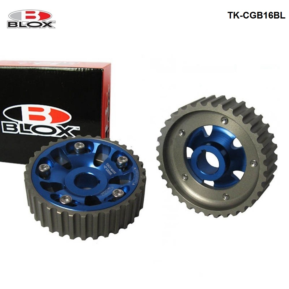 Blox 2Pcs Adjustable Cam Gears Timing Gear pulley kit For Honda B Series B16/B18 Dohc Engine Inlet and Exhaust TK CGB16BL