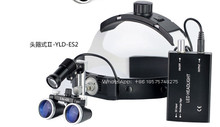 Dental 2.5X Surgical Binocular Medical Loupe With LED Head Light 3.5X