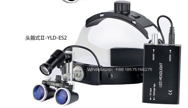 Nha Khoa 2.5X Phẫu Thuật Ống Nhòm Y Tế Kính Lúp Có Đèn LED Đầu 3.5X