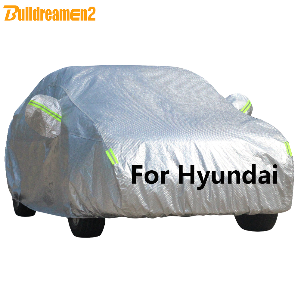 Buildremen2 Cotton Car Cover Waterproof Sun Snow Rain Hail Protect Cover For Hyundai Elantra ix35 Solaris Tucson Sonata Santa Fe