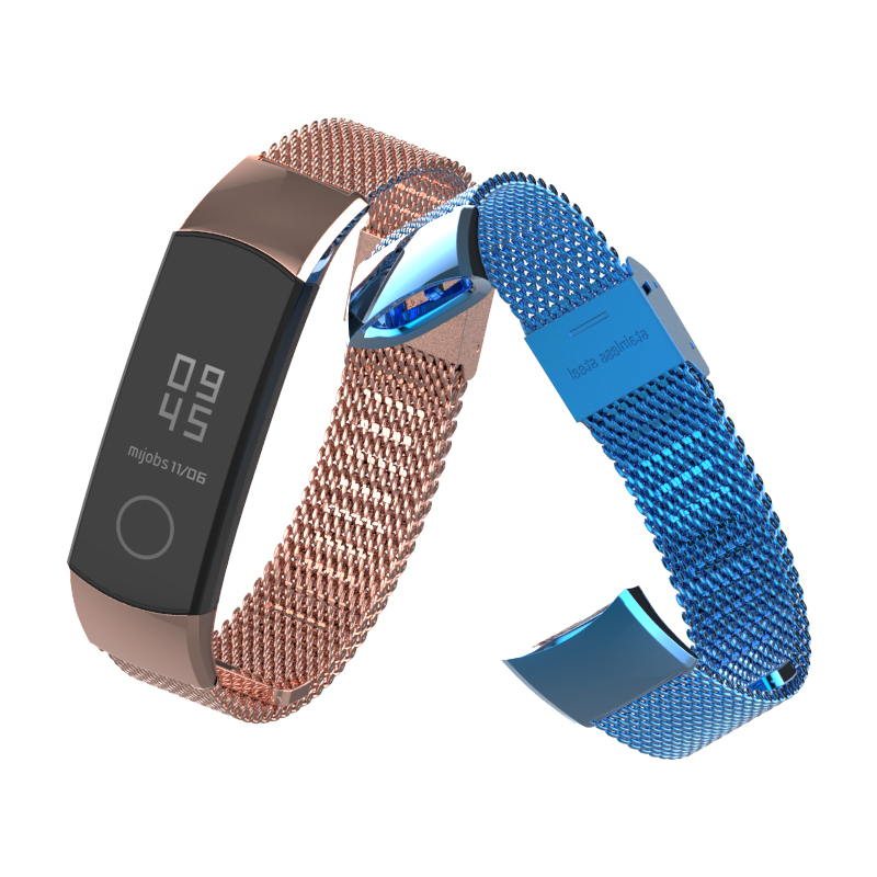 Image 5 - Mijobs Milanese Metal Strap for Huawei Honor Band 4 Strap Smart Accessories Stainless Steel Wristband for Honor Band 5 Bracelet-in Smart Accessories from Consumer Electronics