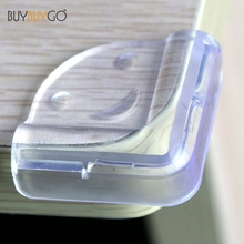 10st Fashion Baby Safety Silicone Transparent Protector Bordhörna Barnskydd PVC Mjuka Anti-Collision Corner Guards