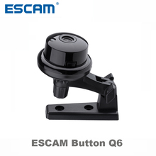 Escam Button Q6 1MP wireless mini camera ONVIF 2.4.2 support motion detector and Email alarm up to 128G SD card built in speaker