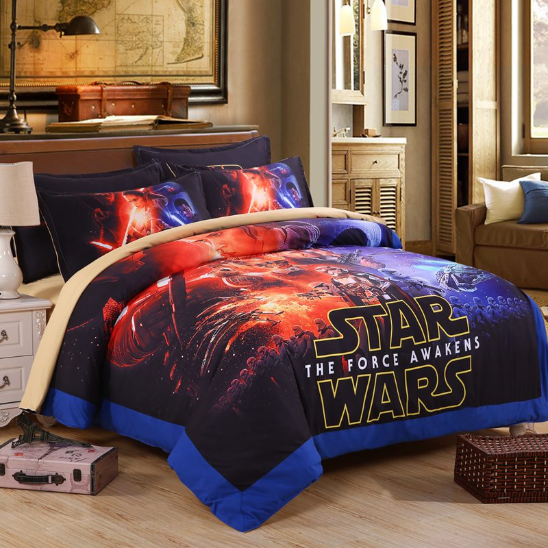 Clic Star Wars Bedding Set Super King Size Duvet Cover Sets Bed Sheets Pillowcases 100 Cotton B In From Home Garden On