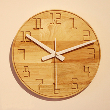 12 inches White Oak Wall Clock Home Decoration Clock
