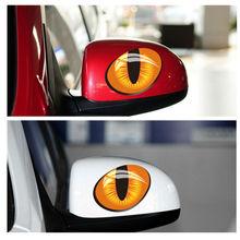 цена на Cool Auto Sticker - Cat Eyes - Die Cut Vinyl Decal Bumper Sticker For Windows, Cars, Trucks, Laptops, Etc. 21cm*9cm