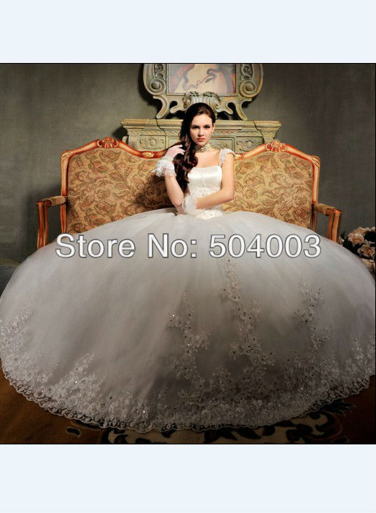 vestido de novia charming designer sweetheart applique bridal gown wedding dress free shipping wholesaleretail