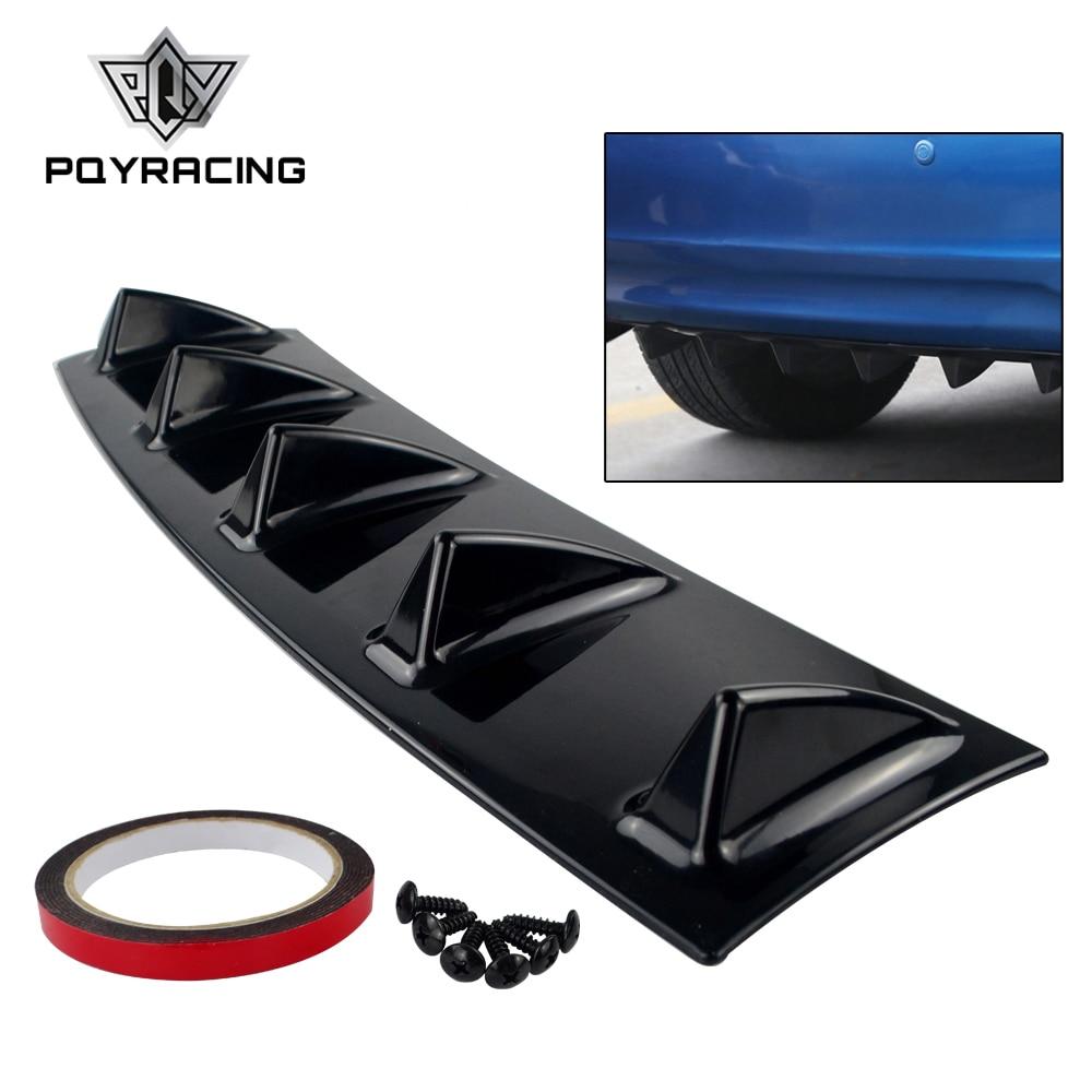 Carbon Fiber Car Rear Bumper Lip Chassis Diffuser Spoiler 3 Fin Shark Fin Style