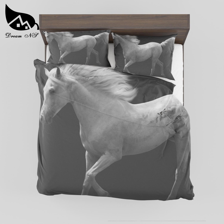 Dream NS Personalized Custom Home Textile Polyester Cotton Horse Bedding Set Aangepaste dekbedovertrek SMY13