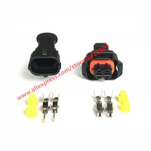 5 Set 2 Pin 1 928 403 874 Female Male 3.5mm Auto Sensor Plug Waterproof Electrical Wire Connector
