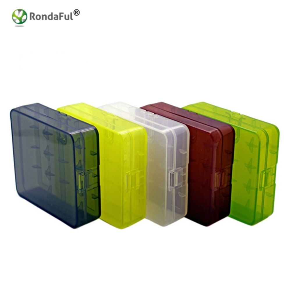 1 Piece Waterproof 18650 Battery Case for 4 X 18650 Battery Transparent Storage Box with Hook Holder Case Environmental Friendly