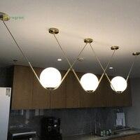 Скандинавские креативные V образные подвесные светильники латунные светильники барное кафе Светодиодное освещение DIY роскошное сочетание