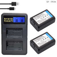 2x bateria NP FW50 NPFW50 NP-FW50 Batterie pack für SONY NEX-5 NEX-7 SLT-A55 A33 A55 A37 A3000 A5000 A5100 A6000 a6300 A7000