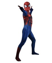 Ben Reilly Spider-Man Cosplay costume Superhero Bodysuit Lycra Spandex Zentai Halloween Party suit free delivery