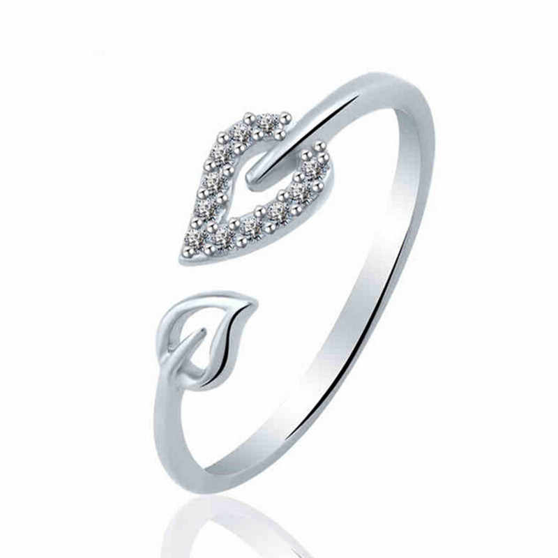 La personnalité parti Leadership engagement cadeau brillant éléments lumineux anneaux pour les femmes amoureux anneau ouvert chaud 2017 en gros nj3